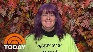 hair makeovers for women over 40 woman with purple hair gets chic ambush makeover to soft red