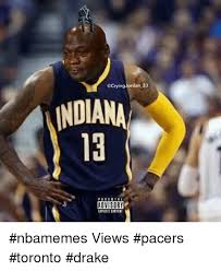 Pacers Meme - ocrying jordan 23 indiana advisory nbamemes views pacers toronto