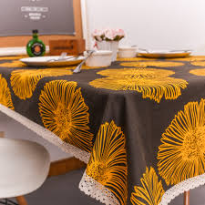 online get cheap european dining table aliexpress com alibaba group european style retro cotton thick dining table cloth chamomile flowers printed lace side table cloth wedding