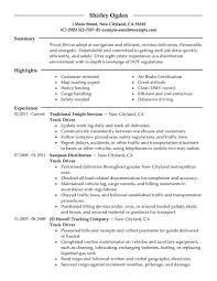 Monster Resume Samples by Resume Truck Driver Resume Samples