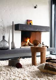 rustic interiors interior modern rustic interior fireplace rug wooden stool
