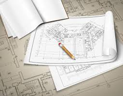 architect plan architectural background part of architectural project