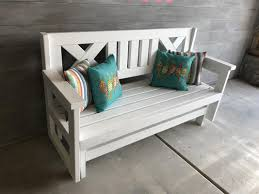 farmhouse outdoor glider bench buildsomething com