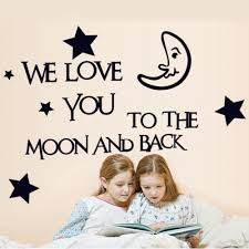 moon and star good night quotes wall love decal wall art decals moon and star good night quotes wall love decal
