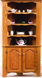 amish primitive pine corner kitchen hutch with open top wood