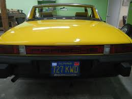 porsche 914 yellow 1974 porsche 914 4 roadster for sale