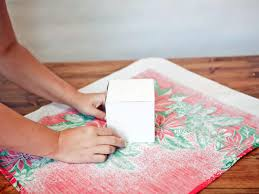 turn christmas tablecloths into holiday dish towels hgtv