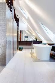 skylights whitewashed flooring enlighten german country house
