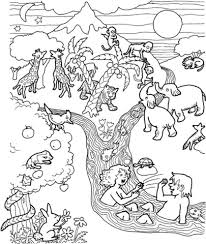 coloring pages adam and eve adam and eve in the garden of eden coloring page free printable