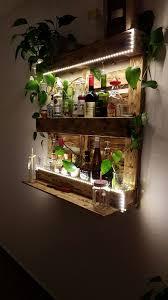 Wohnzimmer Bar Beleuchtet Palettenregal Bar Aus Paletten Mit Led Beleuchtung Holz Diy