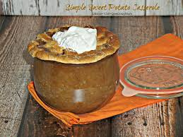 bring a simple sweet potato casserole as a last minute side dish