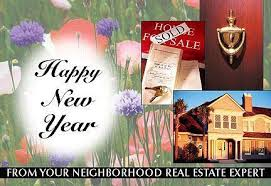 real estate new years cards january february postcards real estate new year