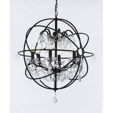 Iron Orb Chandelier Top Product Reviews For Foucault U0027s Orb Crystal Iron 6 Light