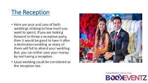 how much is a destination wedding destination wedding vs local wedding which one is better