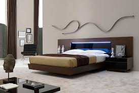 Bedroom Led Lights Contemporary Bed With Led Light Sj Belia Contemporary Bedroom