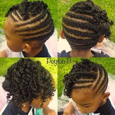 natural hairstyle cornrows protective style for kids natural