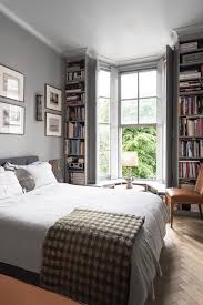 Grey Bedroom With Window Bookshelves Bedroom Design Ideas - Bedroom design uk