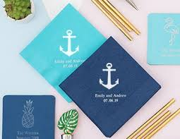 personalized paper napkins the knot shop