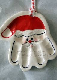 25 unique santa handprint ornament ideas on