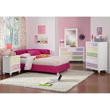 jordan twin corner bed pink american signature furniture