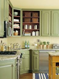 green countertop with white cupboards green painted kitchens