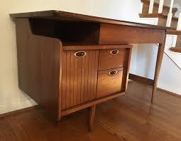 Modern Walnut Desk Vintage Mid Century Walnut Desk By Epoch
