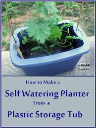 How To Make Self Watering Planters by Condo Blues How To Make A Self Watering Planter From A Plastic