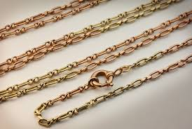 long gold link necklace images Vintage gold link chain necklaces antique jewelry vintage jpg