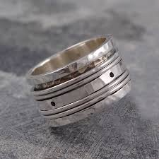 rings silver bands images Silver spinning rings for women jpg