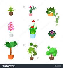 Plants Indoor by Plants Indoor Room Houseplants Vector Flat Stock Vector 393285640