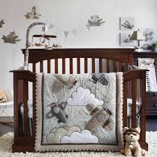 Airplane Crib Bedding Airplanes Flying Infant Baby Boys Aviation Nursery 4 Pc Infant