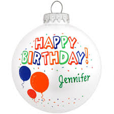 personalized happy birthday glass ornament special occasion