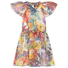 stella mccartney kids multi floral dress alexandalexa