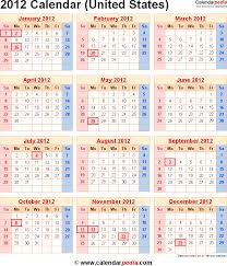 2012 calendar with federal holidays u0026 excel pdf word templates