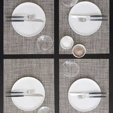 dining room grey rectangle chilewich placemats with chilewich