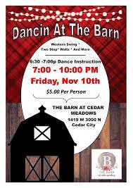 The Barn At The Meadows Dancin U0027 At The Barn The Barn At Cedar Meadows Visit Cedar City