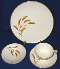 golden china pattern golden wheat american dinnerware replacements by edwin knowles china