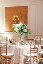 curly willow centerpieces hydrangea curly willow and baby fern reception centerpiece