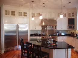 Plain Fancy Cabinetry Kitchen Nice Backsplash Tile Model Closed Black Gas Stove Beside