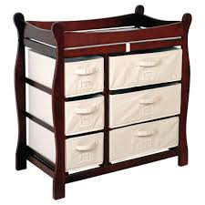 Changing Table Baby Best Changing Table Baby Storage Furniture Cherry Finish Nursery