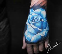 blue rose tattoo by michael cloutier photo no 20010