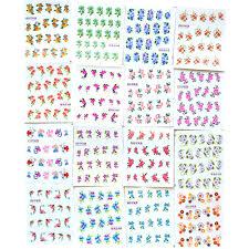 50sheets summer nail art designs water transfer wraps nail sticker