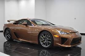lexus sport car lfa what would you say to a brown lexus lfa for 645k