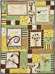 chirp panel quilt free pattern robert kaufman fabric company