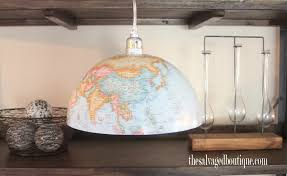 Etsy Pendant Light New Etsy Listing Diy Project Upcycled World Globe Pendant Light
