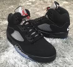 all black nike air jordan 5 og black metallic silver 2016 sneaker bar detroit