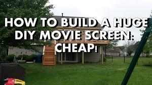 backyard home theater diy how to build a huge backyard movie screen cheap youtube