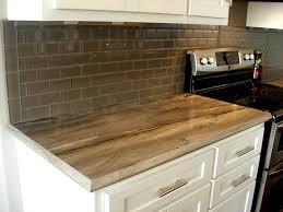 Kitchen Subway Tile Glass Backsplash Laminate Countertop - Laminate backsplash