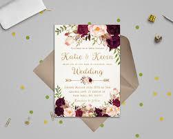 wedding invitations printable floral wedding invitation template wedding invitation