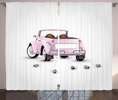 love curtains 2 panels set just married cartoon car home decor ebay